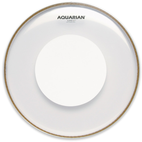 Aquarian Super 2 Clear with Power Dot Drumhead