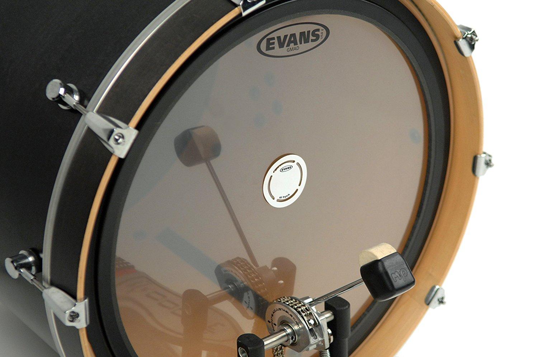 Evans eq black single bass drum patch.