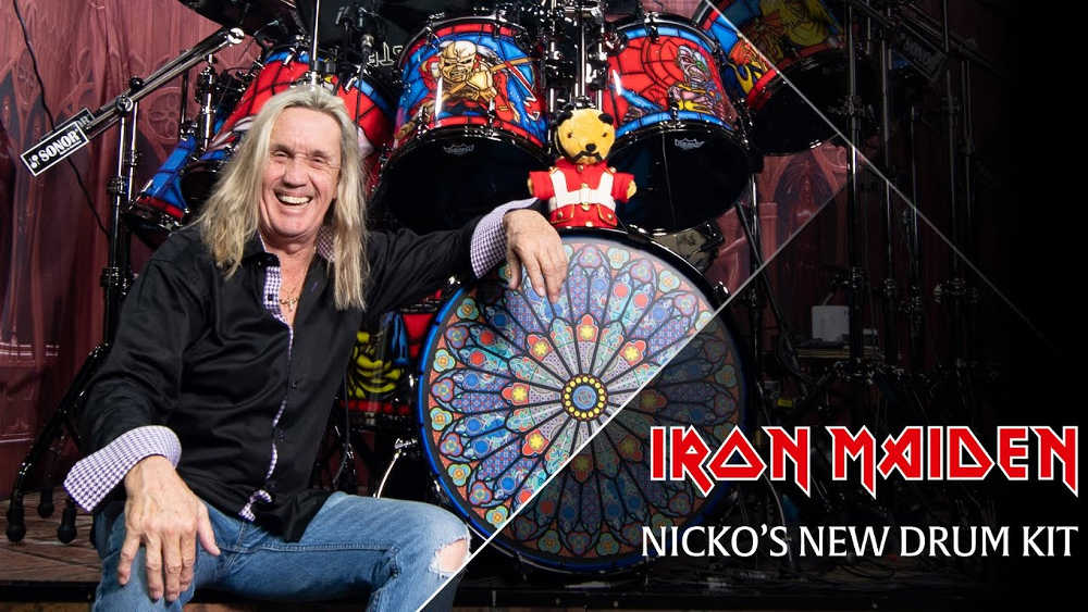 Nicko McBrain 2018 Iron Maiden Drum Kit Tour