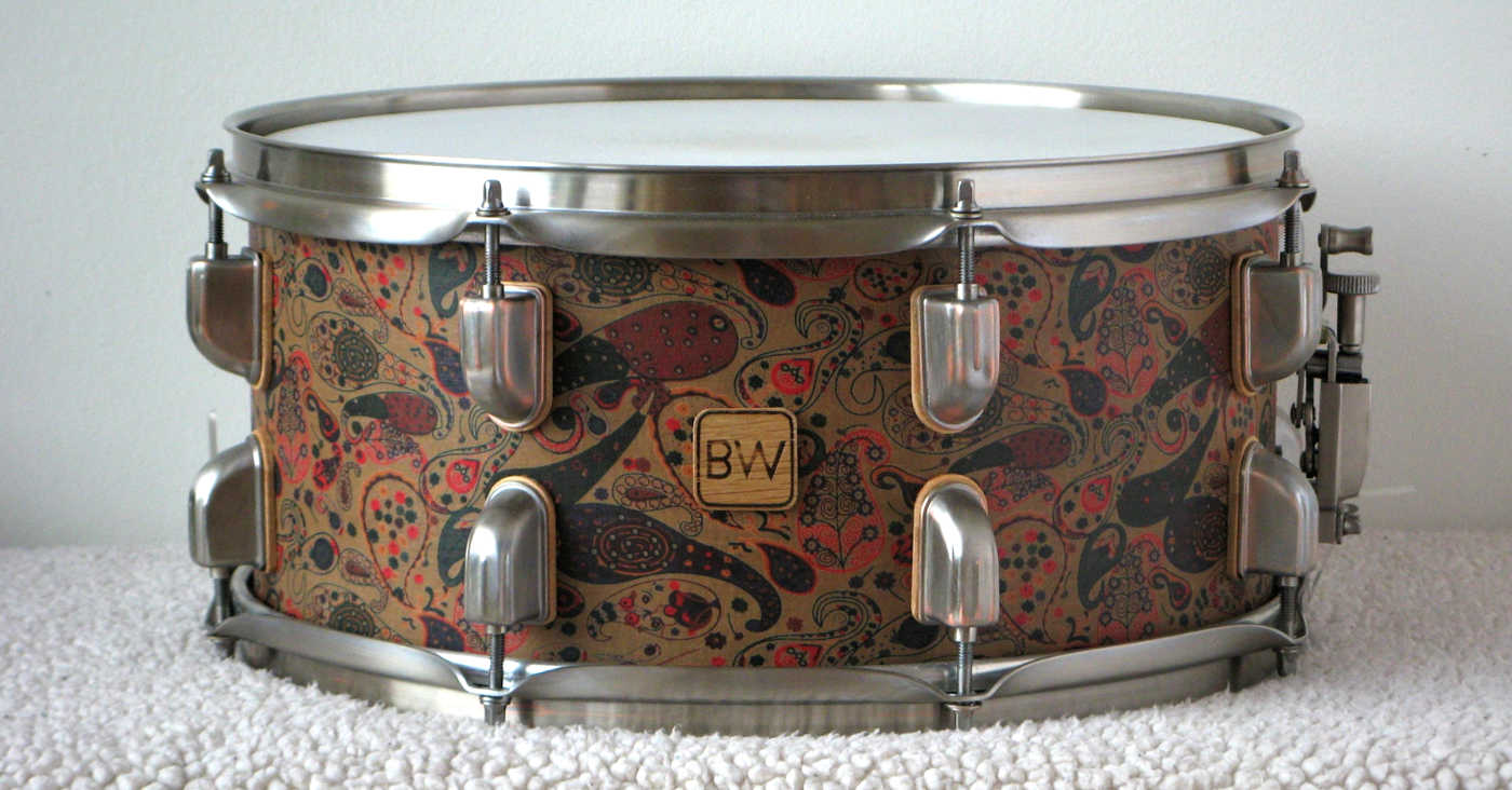 BW Snare Drum Made From MDF