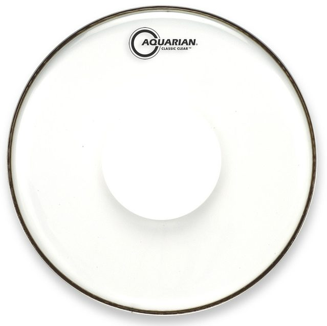 Aquarian Classic Clear with Power Dot Drumhead