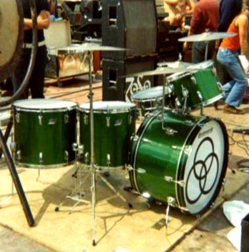 John Bonham Green Sparkle Drum Kit