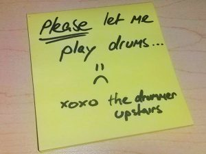 Drum Note To Neighbours