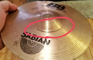 Used Cymbal Cracked Bell