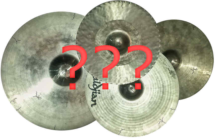 Cracked Used Cymbals