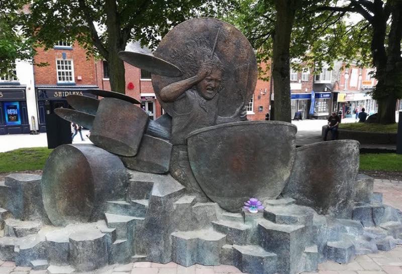 John Bonham Memorial Statue Redditch England