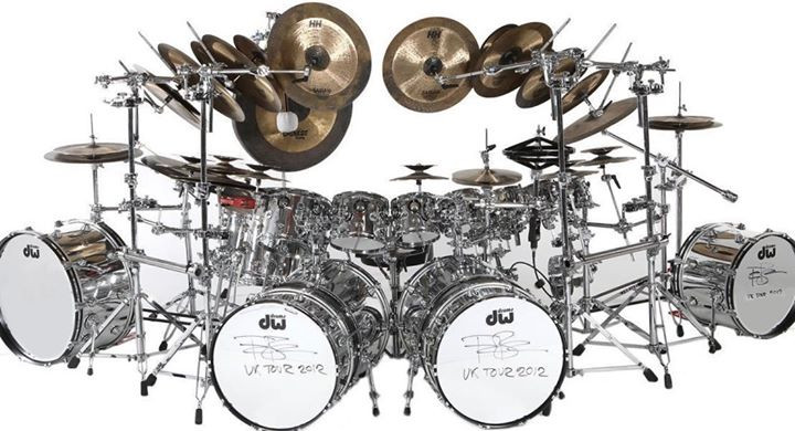 Terry Bozzio 2012 Reunion Tour Drum Kit Front
