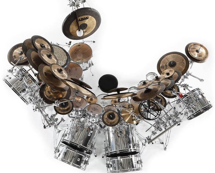Terry Bozzio 2012 Reunion Tour Drum Kit Top Front