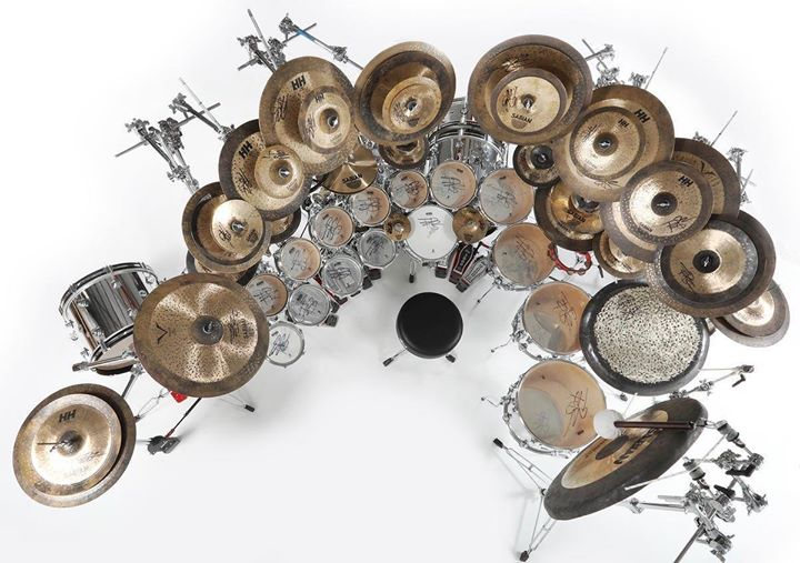 Terry Bozzio 2012 Reunion Tour Drum Kit Top