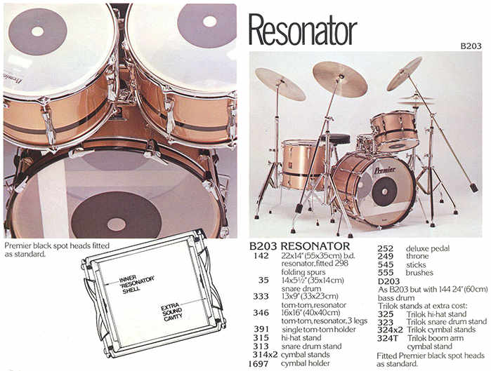 Premier Resonator Drums