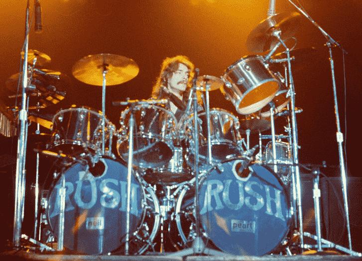 Neil Peart live drum kit