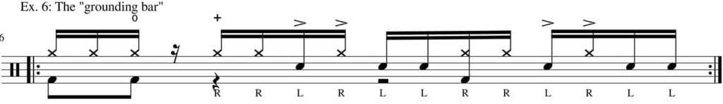 Six stroke roll groove - drum transcription